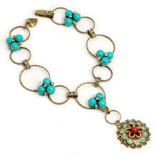 Southwest Turquoise Bubble Links Bracelet