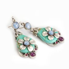 Coolwater Flower Turquoise Drop Earrings
