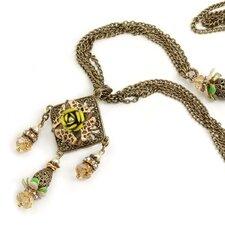 Long Filigree Floral Necklace