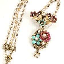 Flower Garden Pearl Chain Necklace