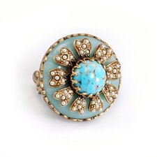 <strong>Sweet Romance</strong> Windflower Turquoise Ring