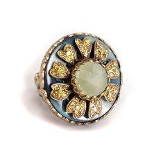 Windflower Jadeite Ring