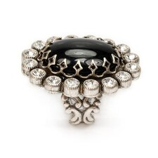 Oval Crystal Ring