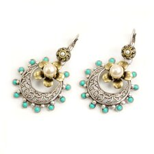 <strong>Sweet Romance</strong> Old Taxco and Turquoise Drop Earrings