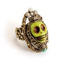 Skull Queen Gemstone Ring