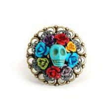 Turquoise Skull Wreath Ring