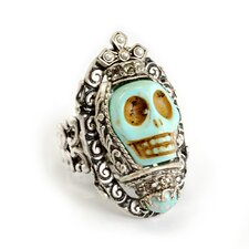 Skull Queen Turquoise Ring