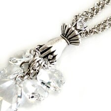 <strong>Sweet Romance</strong> Hand Full of Crystals Necklace