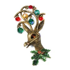 Christmas Mrs. Claus' Reindeer Pin
