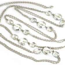 Iridescent Oval Crystal Necklace