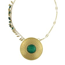 Leaf Fringe Malachite Necklace