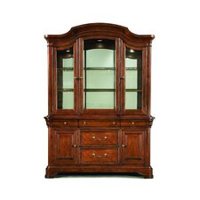 <strong>Legacy Classic Furniture</strong> Evolution China Cabinet in Distressed Rich Auburn