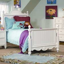 Summer Breeze Scroll Top Low Poster Bed