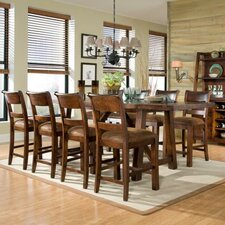 <strong>Legacy Classic Furniture</strong> Woodland Ridge 9 Piece Counter Height Dining Table