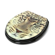 3D Series Leopard Head Round Toilet Seat