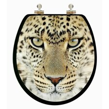 <strong>Topseat</strong> 3D Series Leopard Head Round Toilet Seat