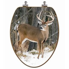 3D Upland Series Deer Elongated Toilet Seat