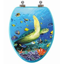 <strong>Topseat</strong> 3D Ocean Series Elongated Toilet Seat