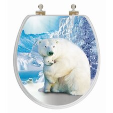 <strong>Topseat</strong> 3D Series Polar Bear Round Toilet Seat