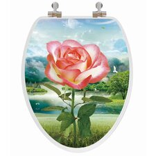 3D Vario Scenario Series Rose Elongated Toilet Seat