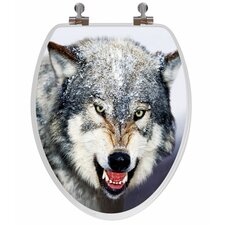 3D Vario Scenario Series Wolf Elongated Toilet Seat