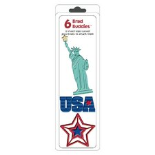 Brad Buddies USA Brad (Set of 6)