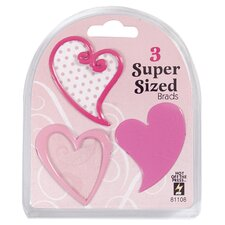 Heart Supersized Brad (Set of 3)