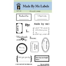 Made By Me Labels Clear Stamp Set
