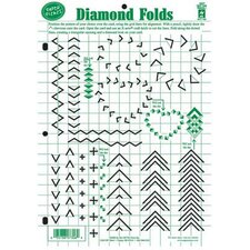 Diamond Folds Paper Template