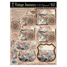 Vintage Journeys 3-D Paper Tole Die-Cuts