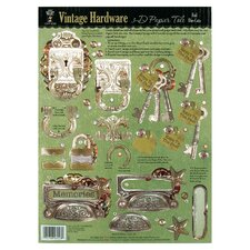 <strong>Hot Off the Press</strong> Foil Vintage Hardware 3-D Paper Tole Die-Cuts