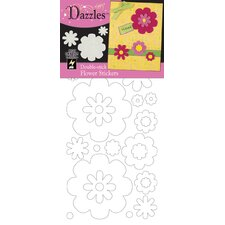 Double-Stick Flowers Stickers