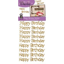 <strong>Dazzles</strong> Happy Birthday Greeting Stickers