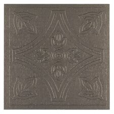 "Metallo 4"" x 4"" Vinyl Tile in Pewter"