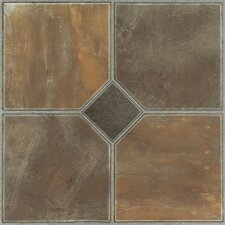 "Nexus 12"" x 12"" Vinyl Tile in Rustic Slate"