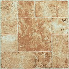 "Nexus 12"" x 12"" Vinyl Tile in Beige Terracotta"