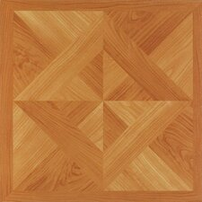 "Nexus 12"" x 12"" Vinyl Tile in Light Oak Diamond Parquet"