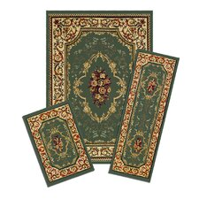 Capri Rose Garden 3 Piece Rug Set