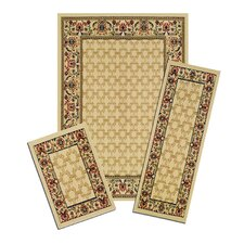 Capri Golden Lattice 3 Piece Rug Set