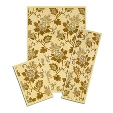 Capri Floral Whisper 3 Piece Rug Set