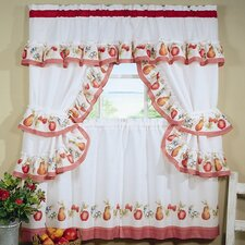 "Fruitopia Cottage 57"" Valance and Tier Set"