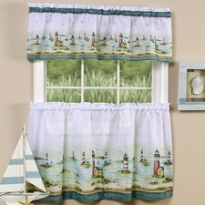 <strong>Achim Importing Co</strong> Hamptons Valance and Tier Set