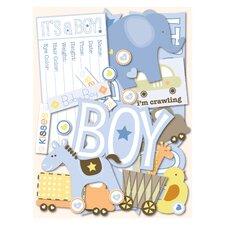Itsy Bitsy Baby Boy Die-Cut Cardstock