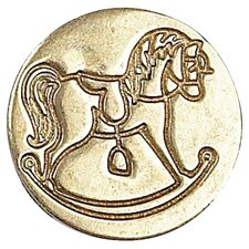 <strong>Manuscript</strong> Decorative Rocking Horse Sealing Wax Coin