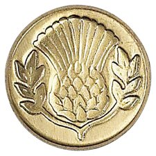 Decorative Sealing Thistle Wax Coin