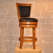 "Monticello 30"" Swivel Bar Stool with Cushion"