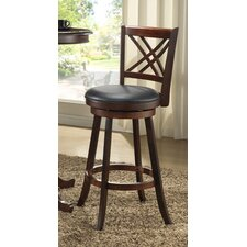 "Distressed Walnut 24"" Bar Stool"