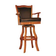 "Monticello 30"" Swivel Bar Stool with Cushion (Set of 2)"