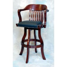 "Burnished Oak 30"" Bar Stool with Cushion"