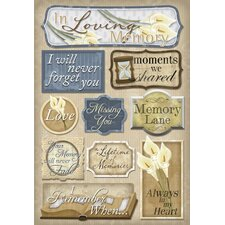 Cardstock Stickers In Loving memory